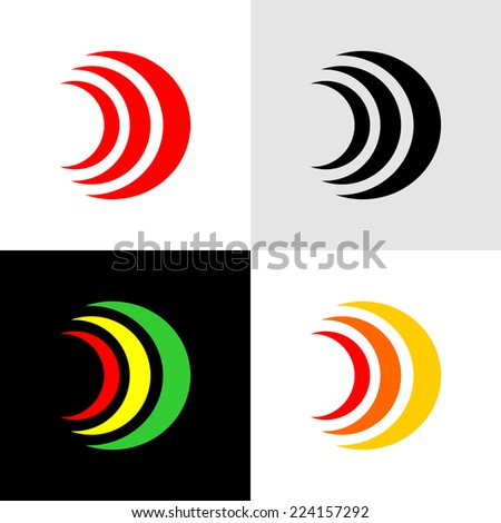 Signals or alarm icons - stock vector