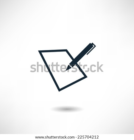 Signature icon - stock vector