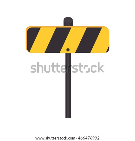 signboard transit sign, isolated flat icon design