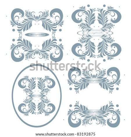 signes variety - stock vector