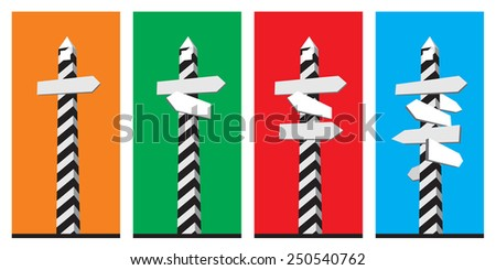 Signpost directions. Sign for directions. Vector image. - stock vector