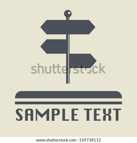 Signpost icon or sign, vector illustration - stock vector