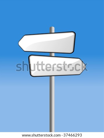 signpost on blue sky - stock vector