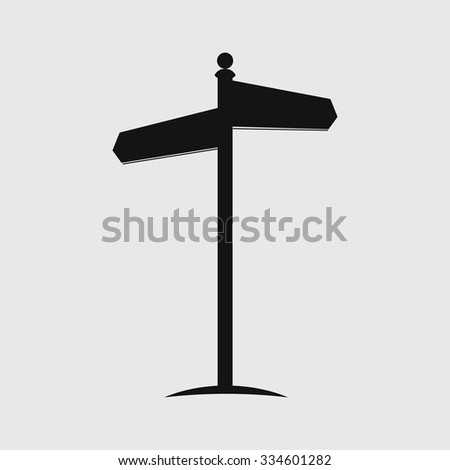 Signpost. Road sign. Direction pointer. - stock vector