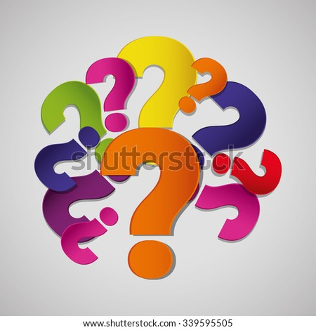 Signs Symbols Question Icon Colors Stock Vector 339595505 Shutterstock