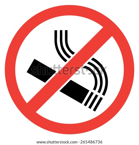 Signs No smoking sign on white background - stock vector