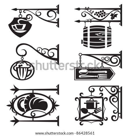 signs of food and beverages - stock vector