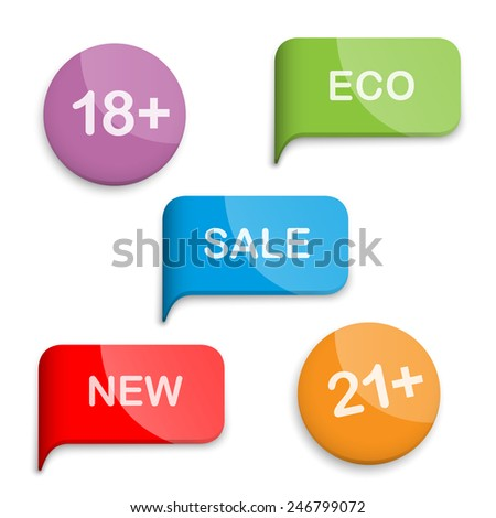 Signs of pointers in a set for retail. - stock vector