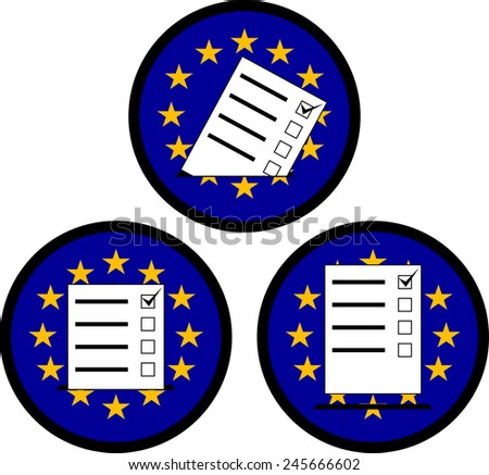 signs of voting in EU. vector illustration - stock vector