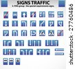 Signs Traffic Part Five - stock vector