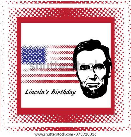 Silhouette Abraham Lincoln. American president, vector illustration - stock vector