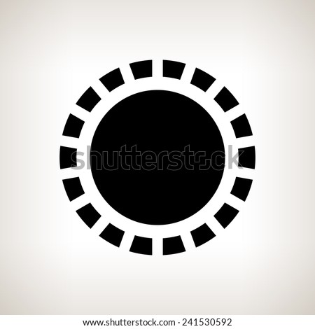 Silhouette abstract sun  on a light background , black and white  vector illustration - stock vector