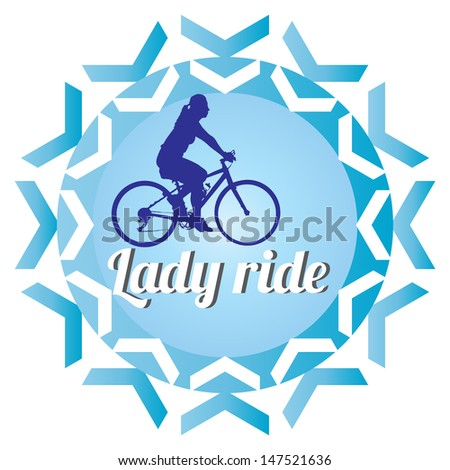 silhouette bicycle logo badge and banner vector format