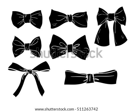 silhouette bow vector bow illustration stock vector 511263742 rh shutterstock com vector bow vector bowls used
