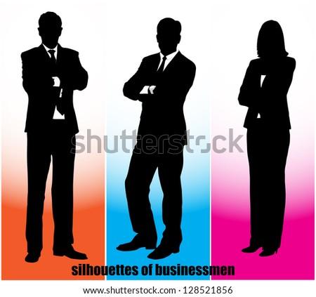silhouette businessman - stock vector