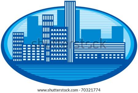 Silhouette City - stock vector