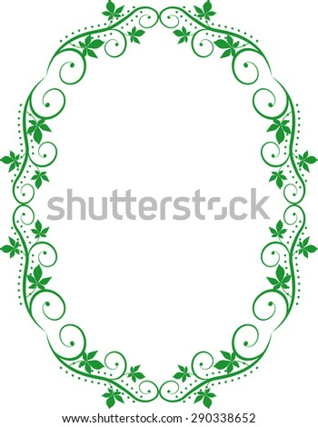 silhouette floral frame - stock vector
