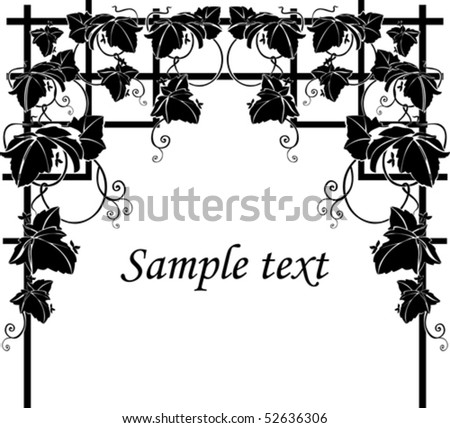 Silhouette Grapes illustration - stock vector