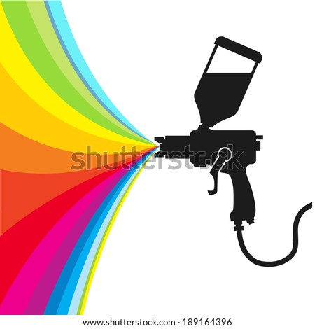 paint spray gun stock photos images pictures shutterstock. Black Bedroom Furniture Sets. Home Design Ideas