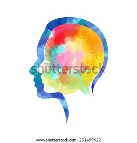 Human Silhouette Painting Silhouette Human Head Painted
