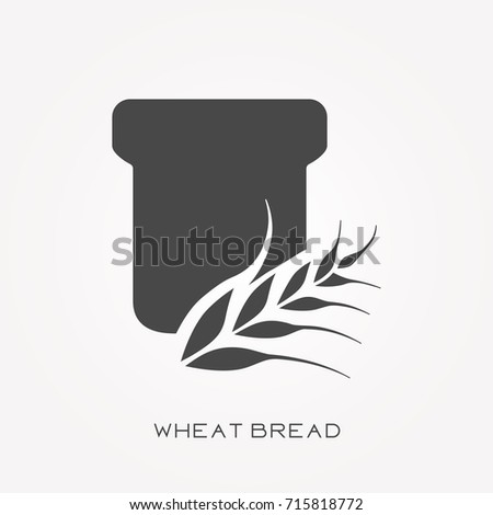 Silhouette icon wheat bread