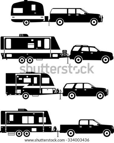 Elegant Trailer Svg Rv Camper Outdoors Happy Silhouette Design