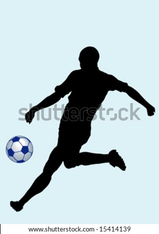 silhouette man and ball, vector