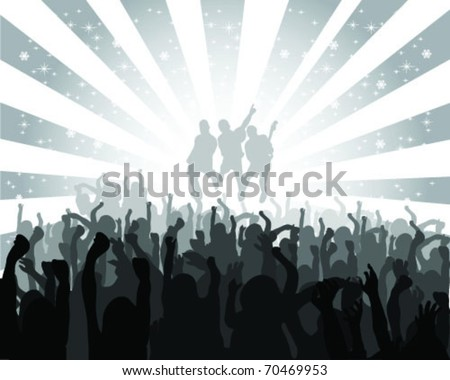 silhouette musical concert with the solemn background, vector - stock vector