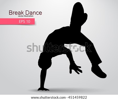 Dancing Silhouette Breakdance Clipart Stock Vector 129604187 ...