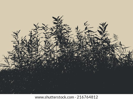 silhouette of a bush. vector illustration - stock vector