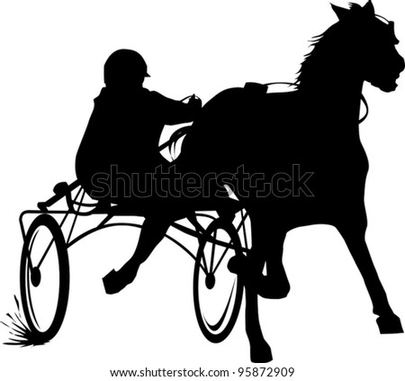 Horse And Buggy W/ Planter Shadow Silhouette Stake |Metal Horse And Buggy Silhouette