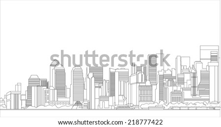 Silhouette of a city - stock vector