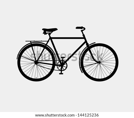 silhouette of a classic bike - stock vector