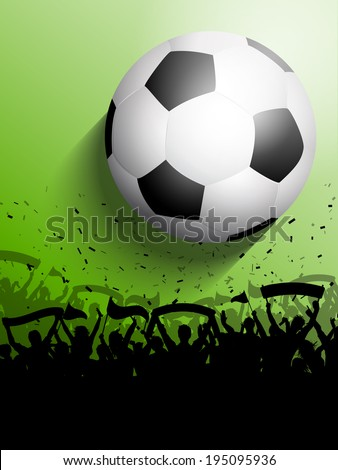 Silhouette of a crowd on a football / soccer background