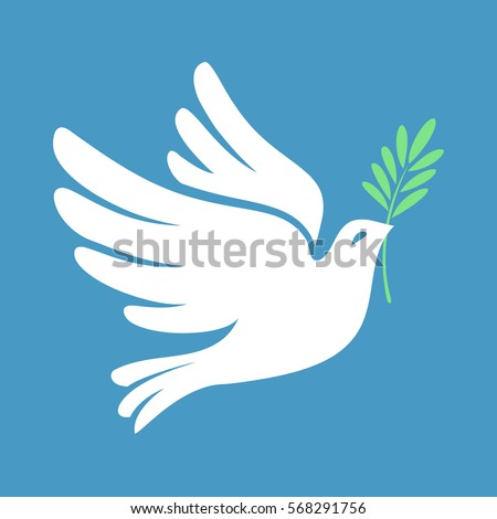 dove with olive leaf