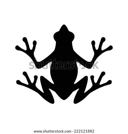 Silhouette of a frog - stock vector
