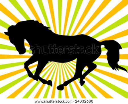 Galloping Horse Silhouette Silhouette of a Galloping