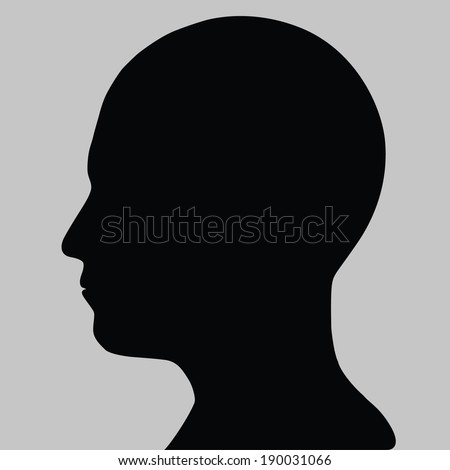 Silhouette of a head isolated on gray - stock vector