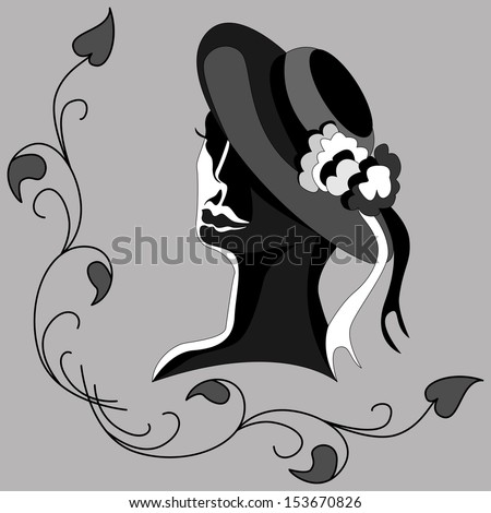 Silhouette of a Woman in a Hat
