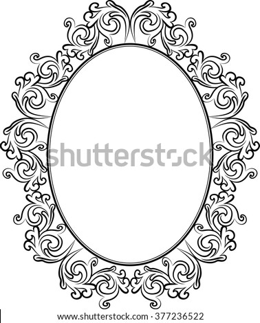silhouette of antique frame - stock vector