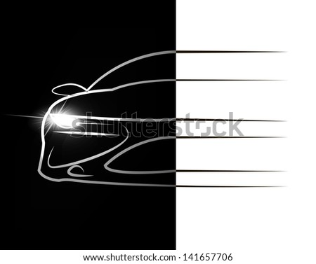 Silhouette of car. - stock vector