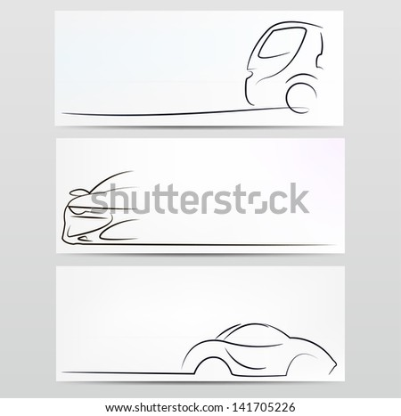 Silhouette of car. Vector illustration - stock vector