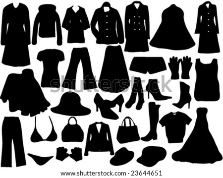 silhouette of clothes