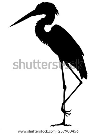 silhouette of heron