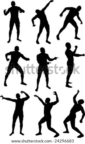 silhouette of male dancing