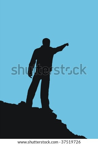 Silhouette of man. Element of design. - stock vector