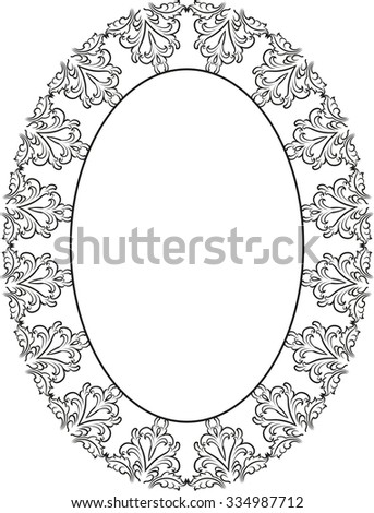 silhouette of ornamental frame - stock vector