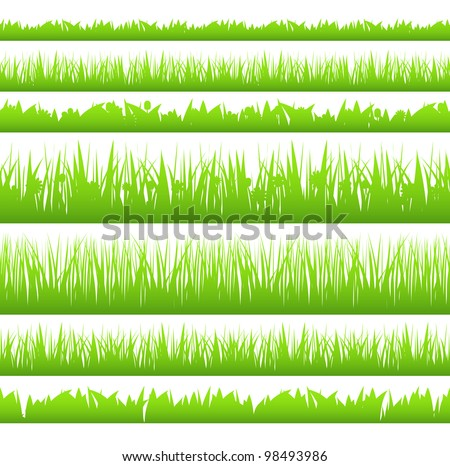 Silhouette of seamless grass, vector eps10 illustration - stock vector