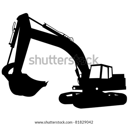 Excavator Silhouette Stock Images, Royalty-Free Images ...