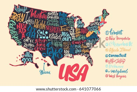 Usa Hand Drawn Map Vector Illustration Stock Vector - Usa map com